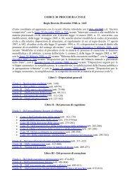 CODICE DI PROCEDURA CIVILE Regio Decreto 28 ... - Ficiesse