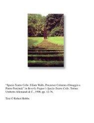 Spazio Teatro Celle: Filiate Walls, Precursor ... - Robert Hobbs