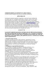 Condizioni generali del contratto di spedizione - Fc Cargo Team