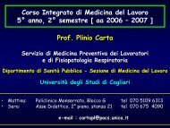 11: Videoterminali - Medicina - Università degli studi di Cagliari.