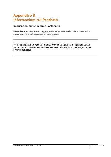 Appendice B Informazioni sul Prodotto - Amazon Web Services