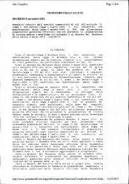 ministero della salute - Ordine dei Farmacisti della Provincia di ...