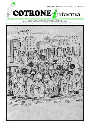 Maggio '99 - Mensile d'informazione e cultura - Anno V Numero 42