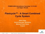Flexicycle™ - A Smart Combined Cycle System - Wärtsilä