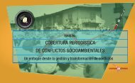 COBERTURA PERIODÍSTICA DE CONFLICTOS SOCIOAMBIENTALES