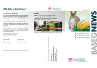 330 Jahre Osterhase* - Baseg • werbung + kommunikation GmbH