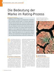 Die Bedeutung der Marke im Rating-Prozess Die Bedeutung der ...