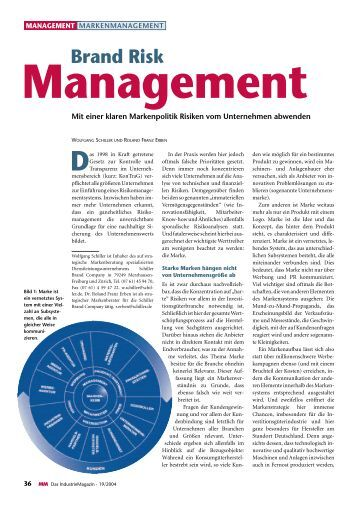 Risk management is the identification, evaluation, and prioritization of risks service, quality, reputation, brand value, and earnings quality. Intangible risk management allows risk management to create immediate value from the identification and reduction of risks that reduce productivity.