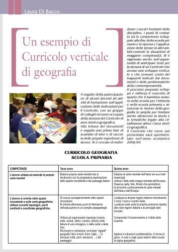 Un esempio di Curricolo verticale di geografia - Associazione ...