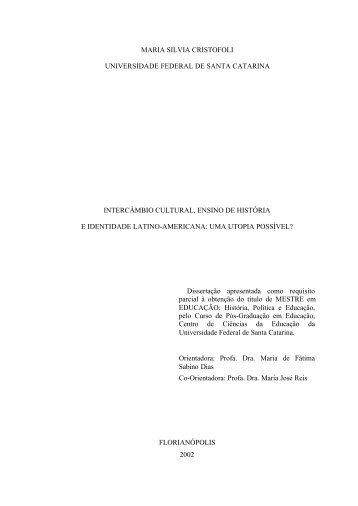maria silvia cristofoli universidade federal de santa catarina ...