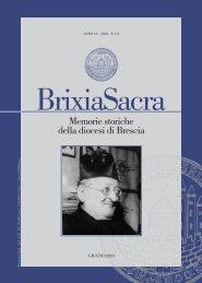 Terza serie (2010) XV, fascicolo 1-2 - Brixia Sacra