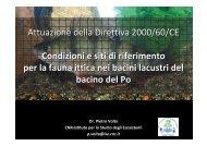 Attuazione della Direttiva 2000/60/CE Condizioni e siti di riferimento ...