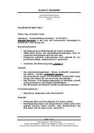 Kundenbrief April 2011 - Klaus K. Baumann Unternehmensberatung ...