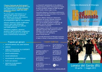 clicca qui - Comunità Missionaria di Villaregia