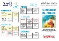 Scarica il calendario 2012-2013 - Patriarcato di Venezia