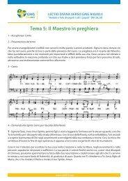 Tema 5: Il Maestro in preghiera - JMJ Rio 2013