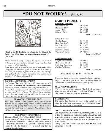 Weekly Bulletin-February 27, 2011