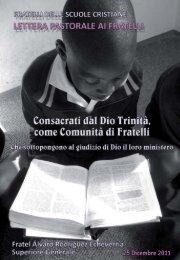 Consacrati dal Dio Trinità, come Comunità di Fratelli ... - La Salle.org