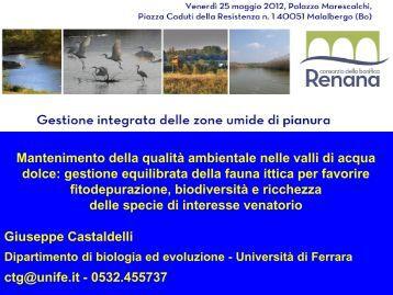 Qualità ambientale gestione fauna ittica - Consorzio della Bonifica ...