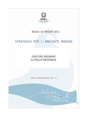 8.2 Costi del degrado - La strategia marina - Ispra