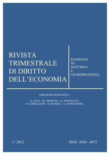 Numero 3 2012 - Fondazione Capriglione Onlus - Luiss