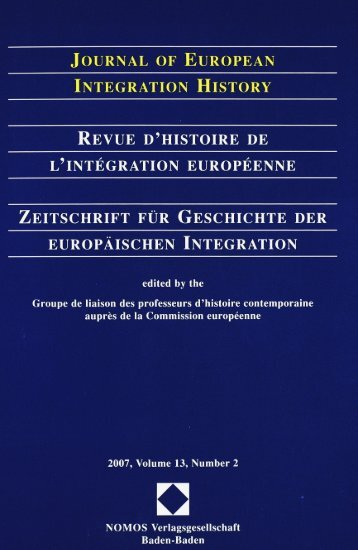 Journal of European Integration History – Revue d - Centre d'études ...