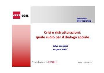 21_2011-Crisi e ristrutturazione, quale ruolo per il dialogo ... - Ires