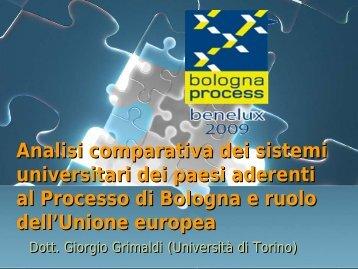 """Giorgio Grimaldi - """"Analisi comparativa dei sistemi universitari dei ..."""