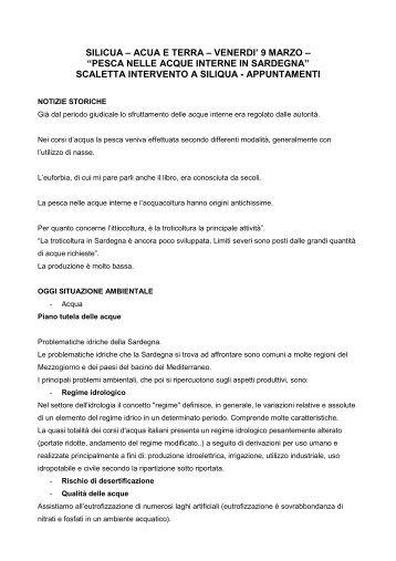 SCALETTA INTERVENTO A SILIQUA - Enrico Lobina
