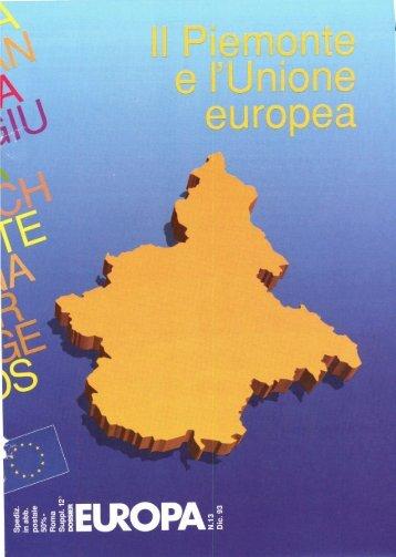 1. Il Piemonte, regione d'Europa