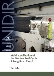 Multilateralization of the Nuclear Fuel Cycle A Long Road ... - UNIDIR