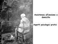 Assistenza all'anziano a domicilio. Aspetti psicologici pratici