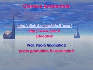 Chimica Ambientale Chimica Chimica Ambientale Ambientale