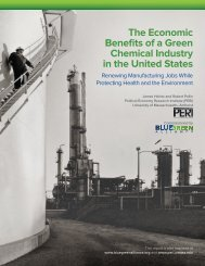 The Economic Benefits of a Green Chemical Industry in the United States