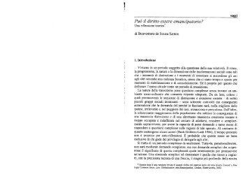 Può il diritto essere emancipaz'orio? - Boaventura de Sousa Santos