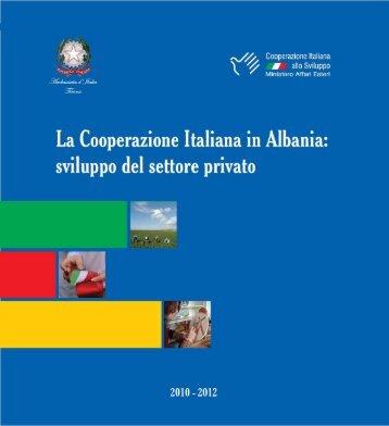La Cooperazione Italiana in Albania: sviluppo del settore privato