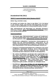 Kundenbrief Juni 2012 - Klaus K. Baumann Unternehmensberatung ...