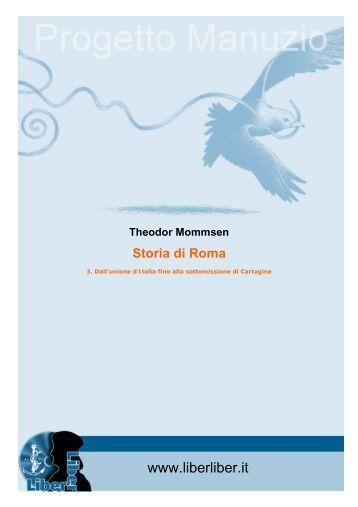 Theodor Mommsen Storia di Roma - Liber Liber