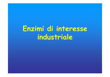 Enzimi di interesse industriale - Università degli Studi di Roma Tor ...