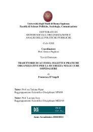 Università degli Studi di Roma Sapienza Facoltà ... - Padis - Sapienza
