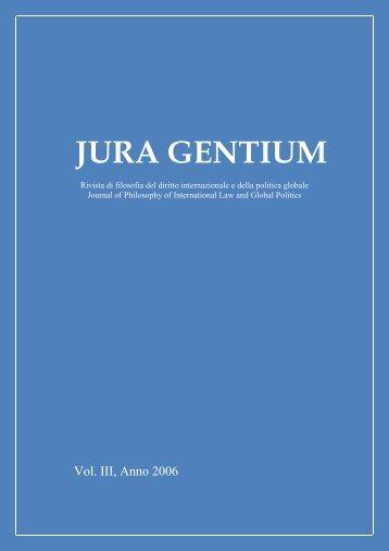 Volume III, 2006 - Jura Gentium