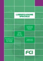 LUBRIFICAZIONE SPECIALE - Forniture chimiche industriali