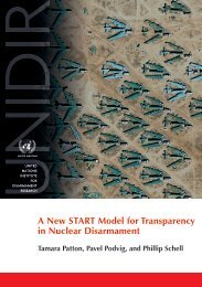A New START Model for Transparency in Nuclear Disarmament