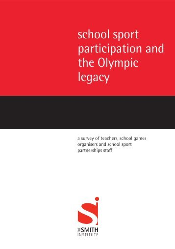 school sport participation and the Olympic legacy