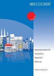 Spezialprodukte für Produktion Reparatur Wartung