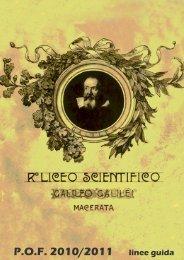 P.O.F. 2010/2011 linee guida - Liceo Scientifico