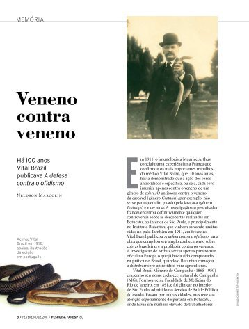 019550cd69 Veneno contra veneno - Revista Pesquisa FAPESP