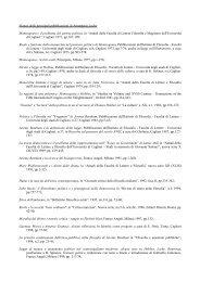 Pubblicazioni (Versione completa) - Facoltà di Lettere e Filosofia ...
