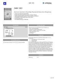 SAM 1001 - Schleicher Electronic