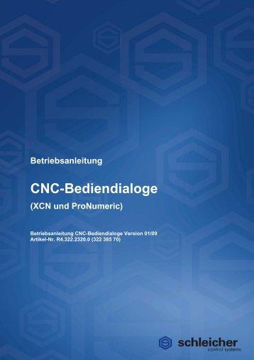 Betriebsanleitung CNC-Bediendialoge - Schleicher Electronic